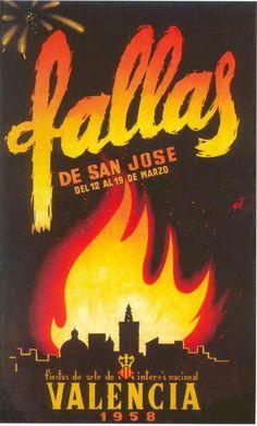 Cartel Fallas Valencia año 1958