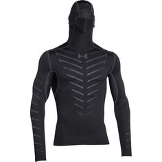 Under Armour ColdGear Infrared Armour Hooded Compression Shirt -... ($90) ❤ liked on Polyvore featuring men's fashion, men's clothing, men's activewear, men's activewear tops, mens mesh shirt, mens compression shirt, mens longsleeve shirts, mens long shirts and mens stretch shirt