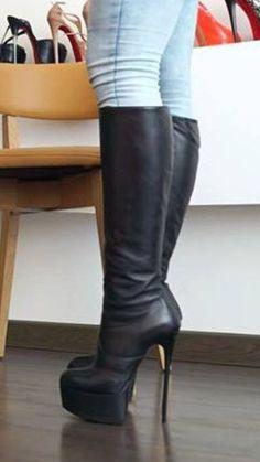 RE: Legs and high heels - 4 Thigh High Boots, High Heel Boots, Heeled Boots, Ankle Boots, Shoe Boots, Platform High Heels, Black High Heels, Stiletto Boots, Killer Heels