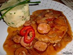 Czech Recipes, Ethnic Recipes, Snack Recipes, Snacks, Junk Food, Japanese Food, Thai Red Curry, Ham, Pork