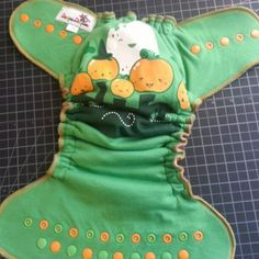 5 little pumpkins custom Upcycle hybrid fitted cloth diaper
