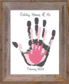 Handprint daddy mummy and me