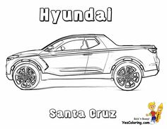 pickup truck coloring page hyundai santa cruz tell other kids you found