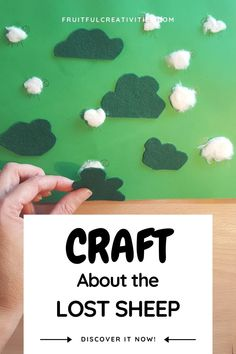Teach your children about Jesus' love for us with this great parable of the lost sheep craft. Fun for toddlers and preschoolers. #preschoolcraft #lostsheepcraft #biblecraft Easy Toddler Crafts, Toddler Fun, Toddler Preschool, Preschool Activities, Sunday School Activities, Sunday School Crafts, Religious Education, Early Education, The Lost Sheep