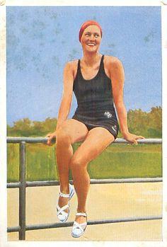 Hertha Schieche Swimming Germany OLYMPIC GAMES 1936