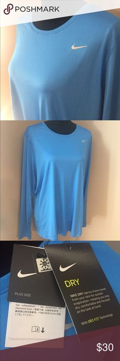 Brand New Nike-DRI Top!! Love the color and soft feel of this top from Nike!!  Great for being active outside or working out at the gym. Bring on Spring!! Nike Tops Tees - Short Sleeve