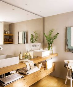 En el lavabo, encastra el grifo en la pared - Fly Tutorial and Ideas Bathroom Interior Design, Decor Interior Design, Interior Decorating, Home Furnishing Stores, Home Furnishings, Furniture Styles, Modern Furniture, Modern Decor, New Room
