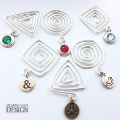How to Make Geometric Spiral Wire Bookmarks Tutorial ~ The Beading Gem's Journal