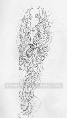 Phoenix sketch for Jeanette 03 by rachaelm5.deviantart.com on @deviantART