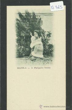 MANILA - A PHILIPPINE BEAUTY - REVERSO SIN DIVIDIR - (17365) (Postales - Postales Extranjero - Asia - Filipinas)