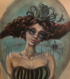 """pastell på papir """"kråkeslottprinsessen""""  se min facebookside https://www.facebook.com/ingas.kunst?ref=hl"""