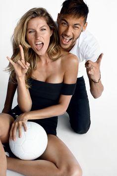 Dupla campeã: Gisele Bündchen e Neymar Jr em goleada fashion