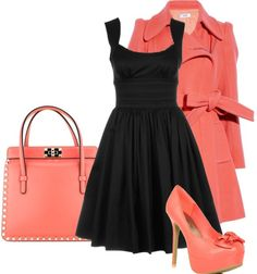 """Coral Twists"" by helsingmusique on Polyvore"