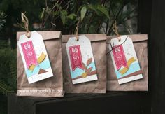 Leipzig stempelt - mit Stampin' Up!® Lunchbags, Packpapier, Tag Topper Punch