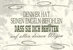 Wandschmuckschild Denn er hat seinen Engeln befohlen   Bolanz Verlag e.K.