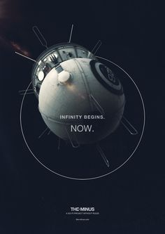 Infinity begins. The Minus. Graphic Prints, Science Fiction, Planets, Infinity, Sci Fi, Projects, Movie Posters, Layout, Outdoor
