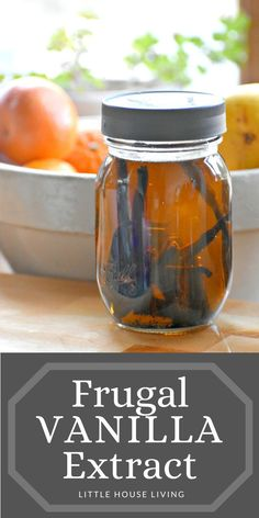 Have you been wanting to make your own vanilla extract but would prefer to make it without alcohol? Here's how to make vanilla extract with glycerin! Canning Tips, Canning Recipes, Herbal Remedies, Natural Remedies, Subsistence Agriculture, Make Vanilla Extract, Little House Living, Wild Edibles, Vegetable Glycerin