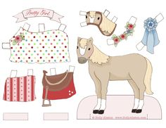 FREE printable paper dolls and paper pony on the blog today.  Merry Christmas!  www.HollyAbston.com