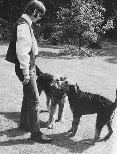 Ringo and his dogs Daisy & Donovan at Sunny Heights, 31 May 1966.