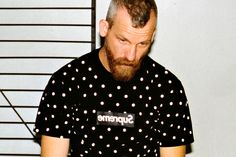 Supreme x COMME des GARCONS SHIRT Capsule Collection   Model: Jason Dill  March 2012  Found: Hypebeast.com