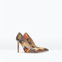 PRINTED LEATHER COURT SHOE-Shoes-Woman-COLLECTION AW15 | ZARA United States
