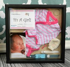 How to create adorable baby birth boxes. So easy and beautiful to display!