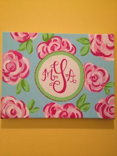 Lilly Pulitzer Inspired Monogram Canvas