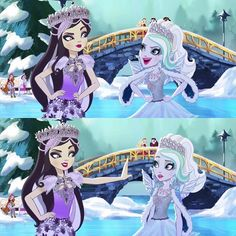 Ever After High Fairest on Ice Duchess Swan &  Faybelle Thorn
