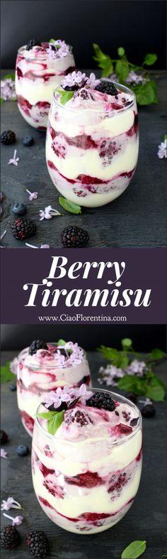 Berry Tiramisu Trifle Recipe   CiaoFlorentina.com @CiaoFlorentina