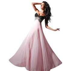 Pre-owned Tony Bowls Black/ Pink New Prom Tbe11307 Size 10 Dress ($225) ❤ liked on Polyvore featuring dresses, pink dress, tony bowls dress, pre owned prom dresses, cocktail prom dress and prom dresses