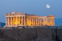 Originally built in 432 BC, the Parthenon in Athens was built to honor the city's patron goddess, Athena. On the same site, a previous templ...