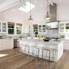 Kitchen Cabinets Vaulted Ceiling recessed lighting vaulted ceiling picture | kitchen & dining room
