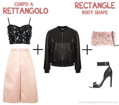 Inverted triangle body shape: what to wear for New Year's Eve    #topshop #sequins #trousers #coulottes #pink #invertedtriangle #body