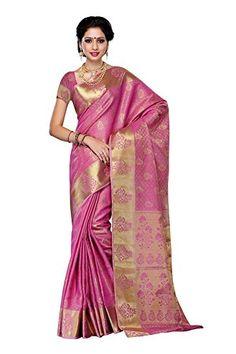 sarees, silk sarees Mimosa Women'S Tussar Silk Saree With Blouse,Color:Pink(3...