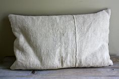 Need plenty of beautiful pillows for reading on the daybed / sofa or stop over...      Vintage Hemp Linen Plain natural pillow bolster made from antique hemp linen sheets