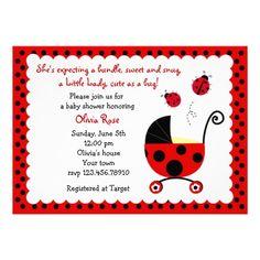 ladybug baby shower invitations 215