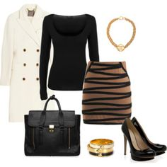 Winter in office - Polyvore
