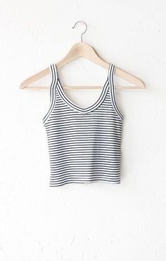 Striped Cami Crop Top | NYCT Clothing