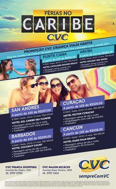 Anúncio desenvolvido pela Premier Comunicação para a CVC, no jornal Comércio da Franca, Franca-SP.