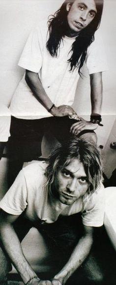 Dave Grohl and Kurt Cobain / Nirvana