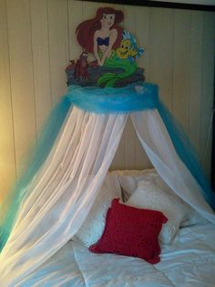 The Little Mermaid Ariel Childrens Bedroom Canopy for play area and nursery...hmmm....maybe something similar?
