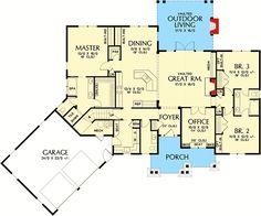 3 Bedroom Craftsman Home Plan - 69533AM | 1st Floor Master Suite, Bonus Room, Butler Walk-in Pantry, CAD Available, Craftsman, Den-Office-Library-Study, Jack