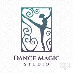 Exclusive Customizable Logo For Sale: Dance Magic Studio | StockLogos.com