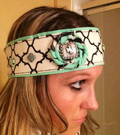 western headband with crosses and concho For sale $25