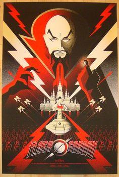 "2012 ""Flash Gordon"" - Silkscreen Movie Poster by Bruce Yan"