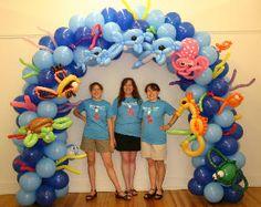 under the sea balloon arch balloongenuity