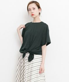 KBF(ケイビーエフ)の「KBF 裾絞りTEE(Tシャツ/カットソー)」|チャコールグレー