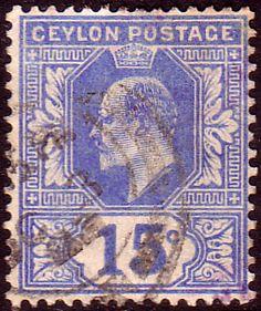 Ceylon 1903 King Edward VII Head SG 271 Fine Used SG 271 Scott 172 Other Sri Lanka Stamps Here
