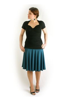 My new skirt! By ureshii (ureshii.org) - flowy skirt v.2 in North Shore bamboo