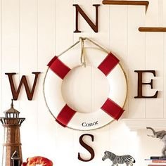 What a cool decorative element for any kids room: Life Preserver. But please someone stop the personalizing. I am so not into having my (or my daughter's) name written on everything. Is it ju…